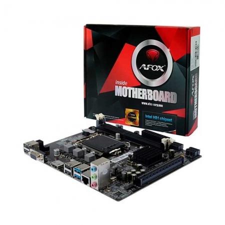 PLACA MÃE AFOX IH81-MA5 CHIPSET H81, INTEL LGA 1150, MATX, DDR3