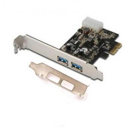 PLACA PCI EXPRESS 2 USB 3.0 LOW PROFILE (PERFIL BAIXO) FEASSO JPU-03