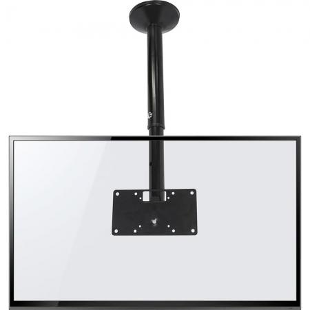 SUPORTE DE TETO MULTIVISÃO COM INCLINAÇÃO PARA TVS LCD/ LED DE 19´ ATÉ 56´ - PRETO - SKY30