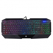 TECLADO GAMER HP K110 USB MEMBRANA LED PRETO
