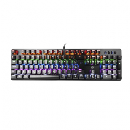 TECLADO GAMER MECANICO HP GK100, LED, PRETO, USB