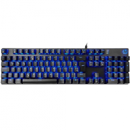 TECLADO GAMER MECANICO HP GK400F, LED, PRETO, USB