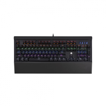 TECLADO GAMER MECANICO HP GK500, LED, PRETO, USB