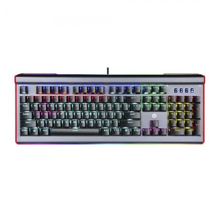 TECLADO GAMER MECANICO HP GK520, LED, PRETO, USB