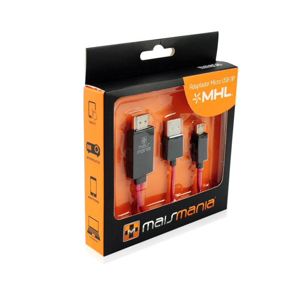 ADAPTADOR MHL HDMI AM MAIS MANIA - MICRO USB 11P