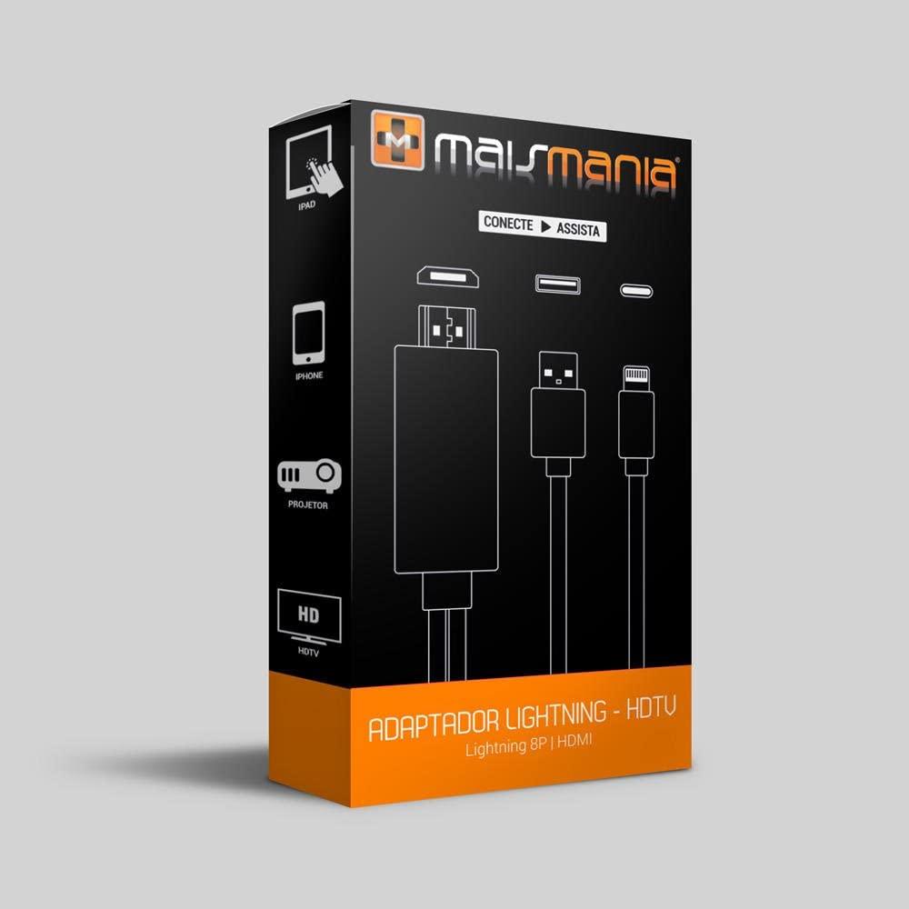 ADAPTADOR MHL HDMI - LIGHTNING (8P) - IPHONE 921 MAIS MANIA - MM921