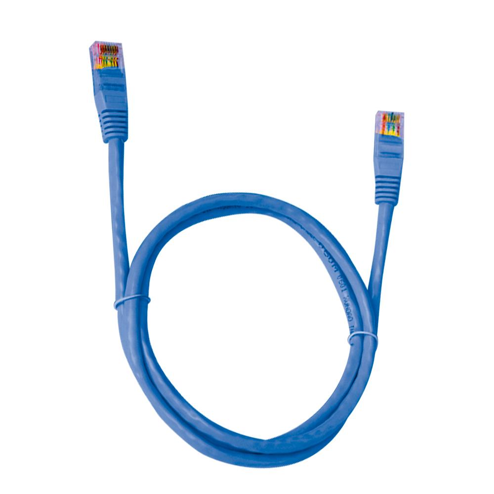 CABO DE REDE CAT.6 2.5 METROS AZUL PLUS CABLE - PC-ETH6U25BL