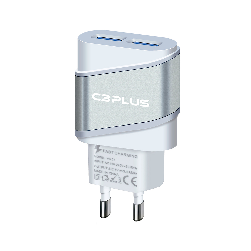 CARREGADOR COM 2 PORTAS USB C3 PLUS - UC-20SWH