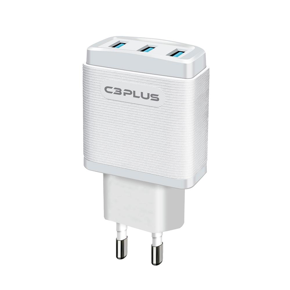 CARREGADOR COM 3 PORTAS USB C3 PLUS - UC-30WH