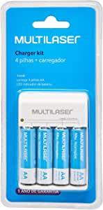 CARREGADOR DE PILHAS MULTILASER AA/AAA + 4 PILHAS AA 2500MAH - CB054