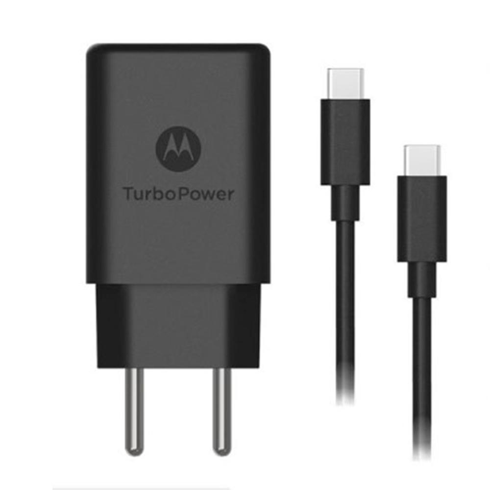 CARREGADOR MOTOROLA TURBO POWER 18W MICRO USB  PRETO