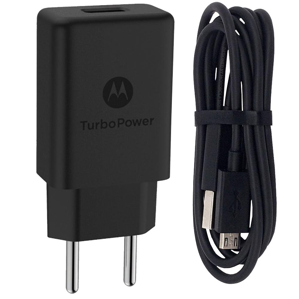 CARREGADOR MOTOROLA  TURBO POWER 18W TIPO-C  PRETO