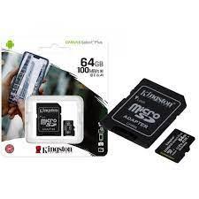 CARTÃO MICRO SD KINGSTON 64GB CLASS 10 COM ADAPTADOR - SDCS2/64GB
