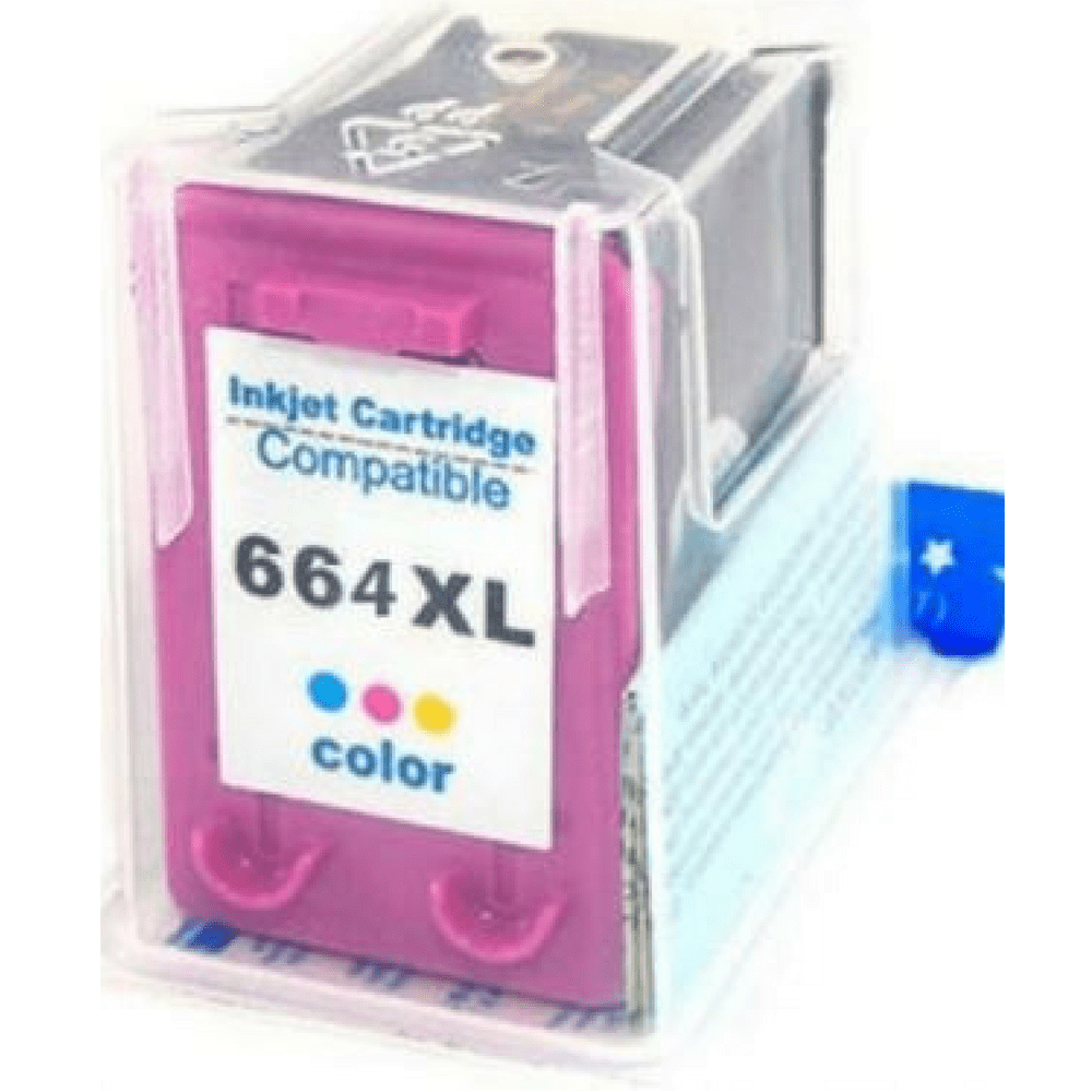 CARTUCHO COMPATIVEL HP 664XL ATUALIZADO COLOR 12ML