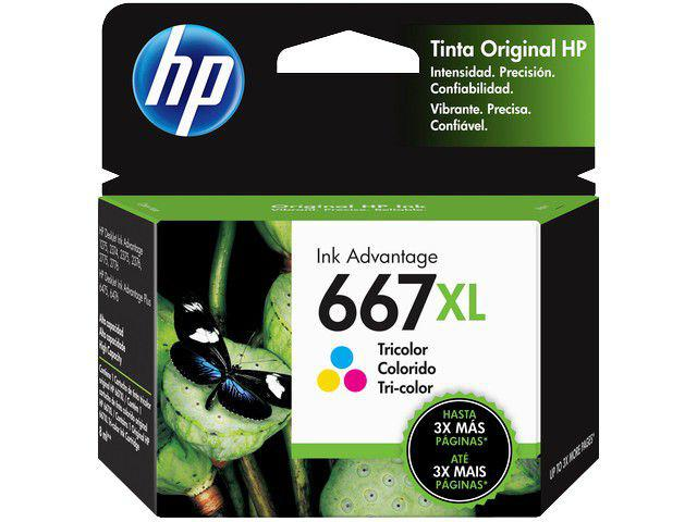 CARTUCHO DE TINTA HP INK ADVANTAGE 667 XL - COLORIDO