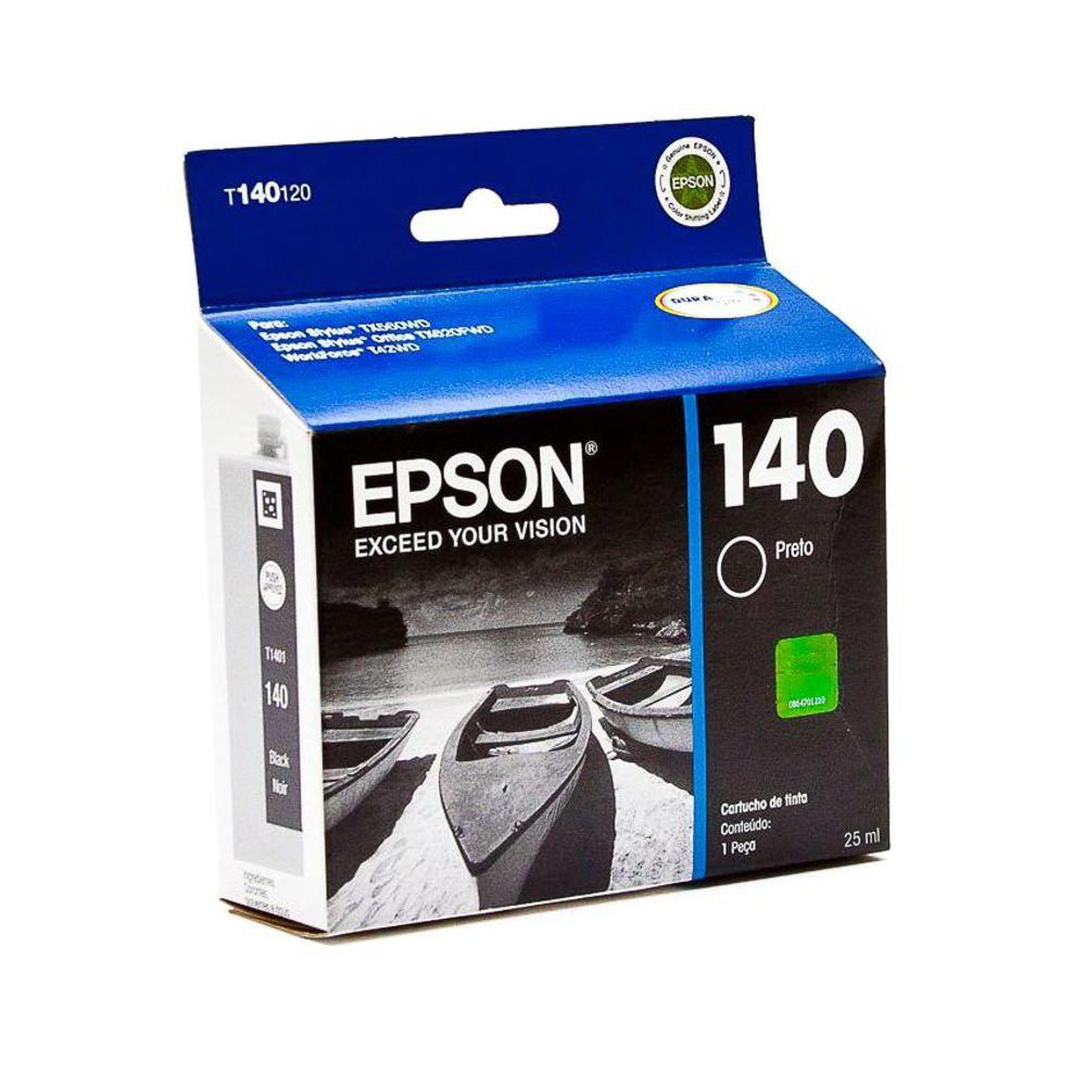 CARTUCHO EPSON T140 PRETO PARA T42WD TX525 TX620FWD TX560WD 25ML
