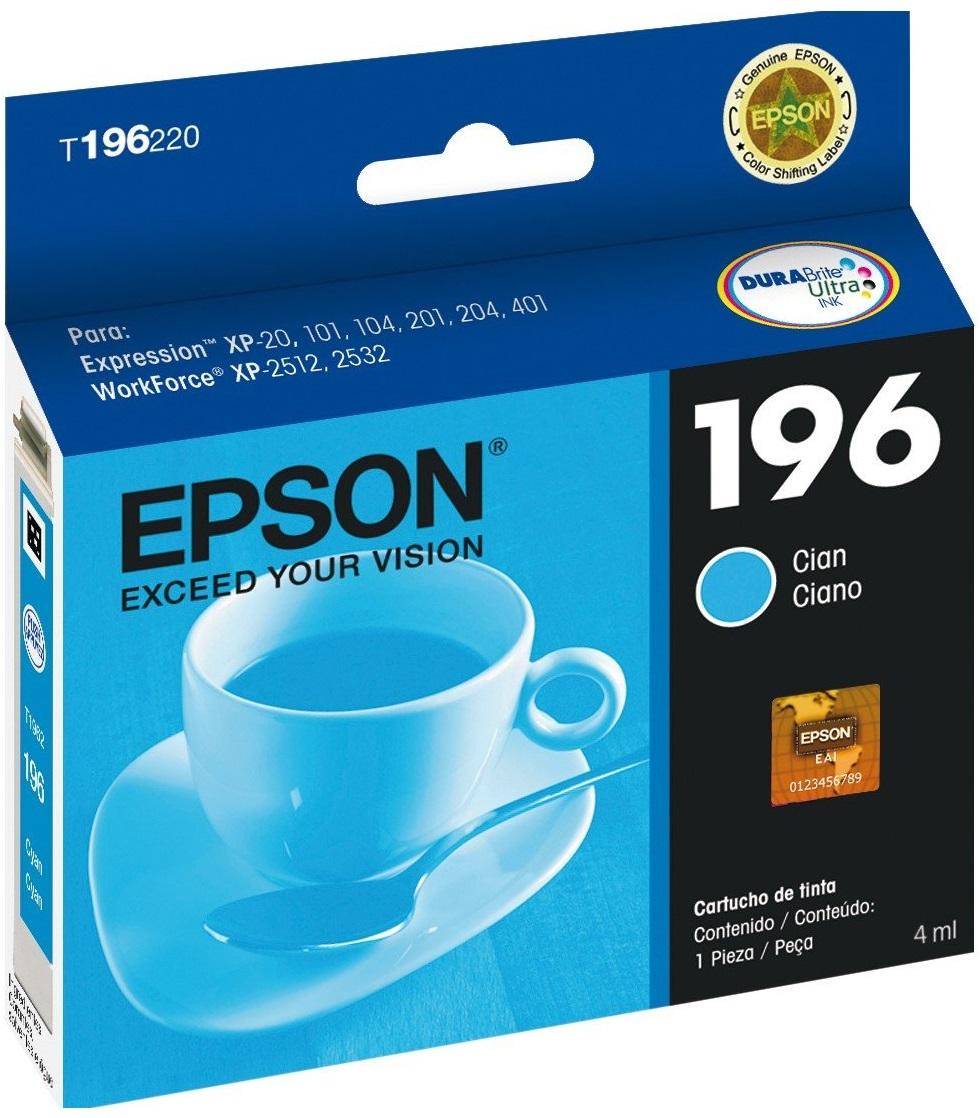 CARTUCHO EPSON T196 CIANO