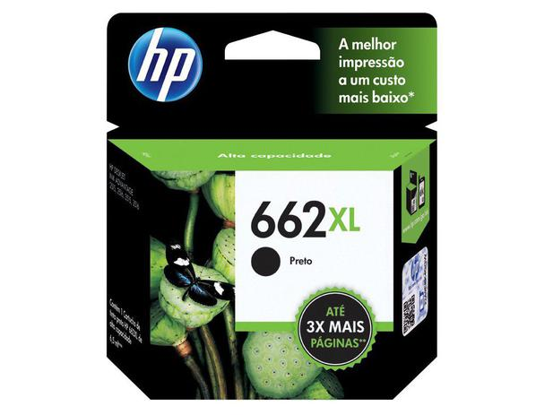 CARTUCHO HP 662XL PRETO ORIGINAL - CZ105AB