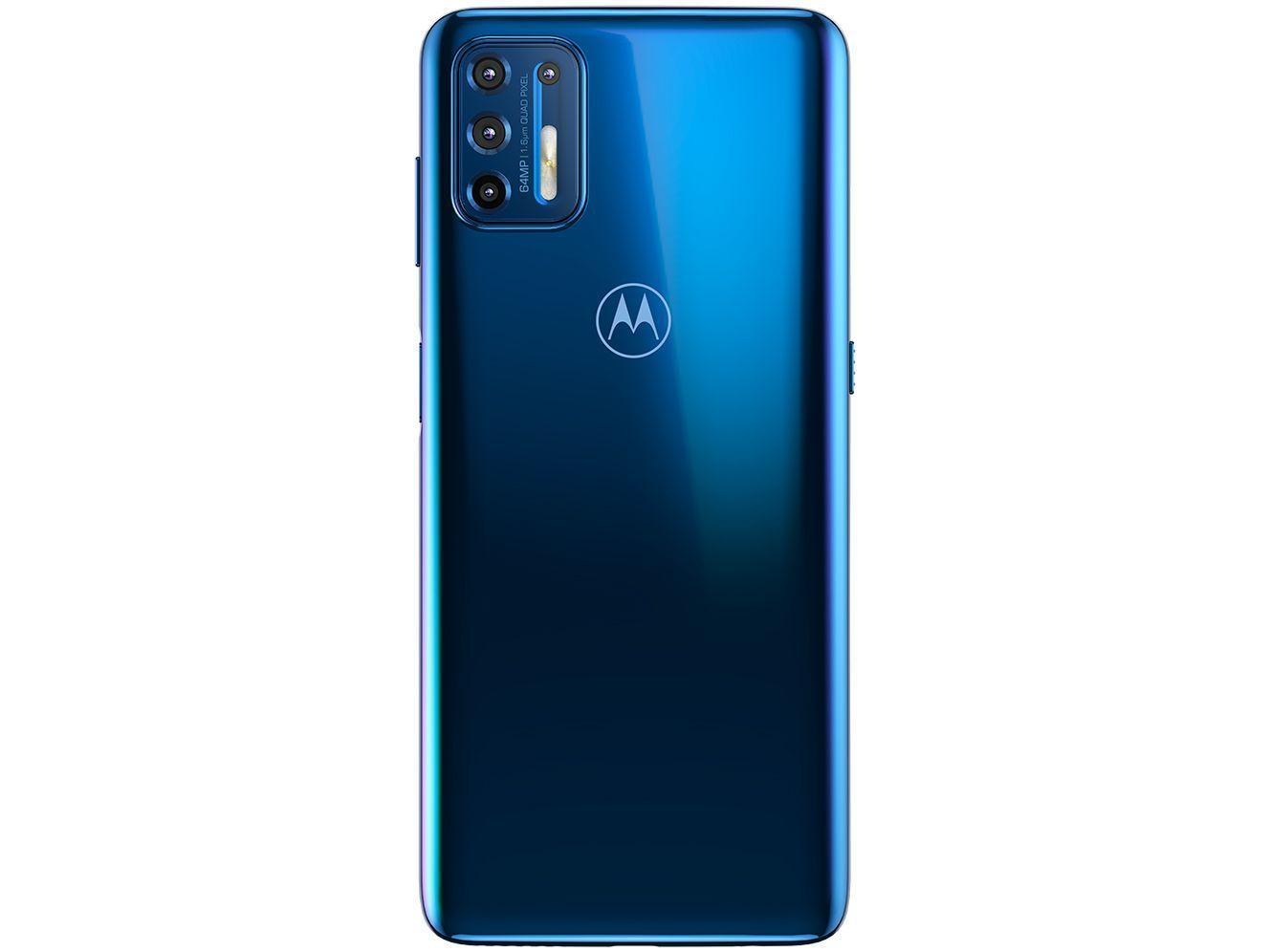 CELULAR SMARTPHONE MOTOROLA MOTO G9 PLUS AZUL ÍNDIGO 128GB, 4GB RAM, TELA DE 6.8?, OCTA-CORE