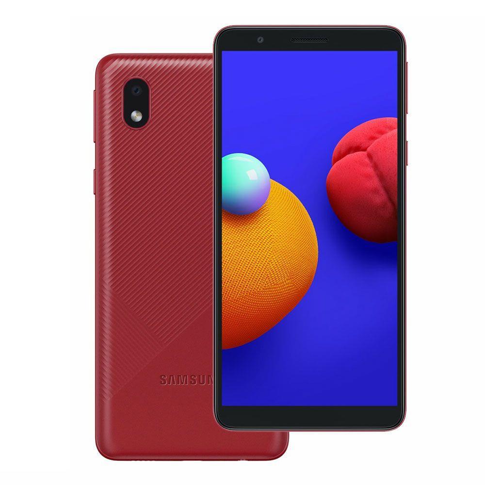 """CELULAR SMARTPHONE SAMSUNG GALAXY A013M CORE 32GB 2GB RAM TELA INFINITA DE 5.3"""" VERMELHO"""