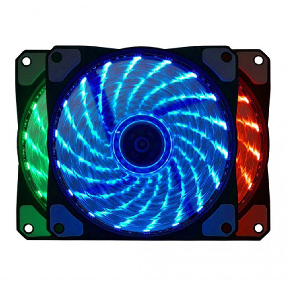COOLER FAN  BF-06RGB, RGB 7 CORES, 12CM - BF06RGBCASE BLUECASE