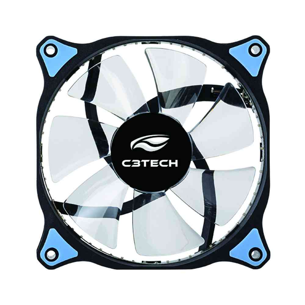 COOLER FAN C3 TECH F7-L130BL GAMING, 12CM, COM LED AZUL