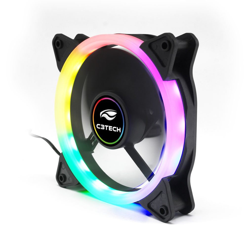 COOLER FAN C3TECH  12 CM COM LED RGB F7-L200RGB