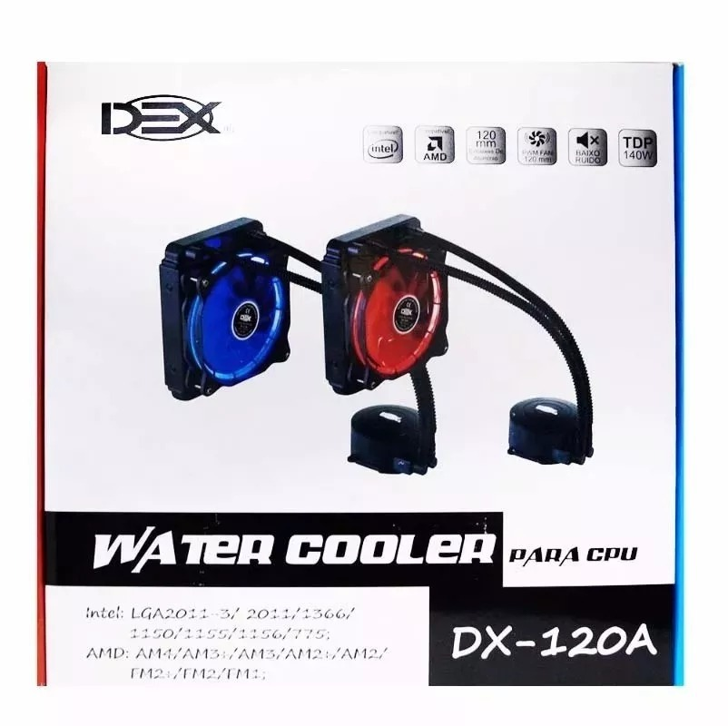 COOLER WATER DX-120A LED VERMELHO 120MM DEX