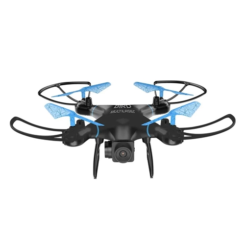 DRONE MULTILASER BIRD ES255 ALCANCE 80M PRETO E AZUL