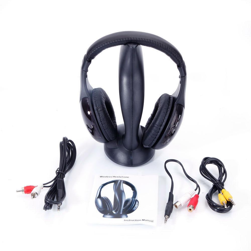 FONE SEM FIO PARA TV/PC KOLKE KAW-100 COM FM/MP3 - PRETO