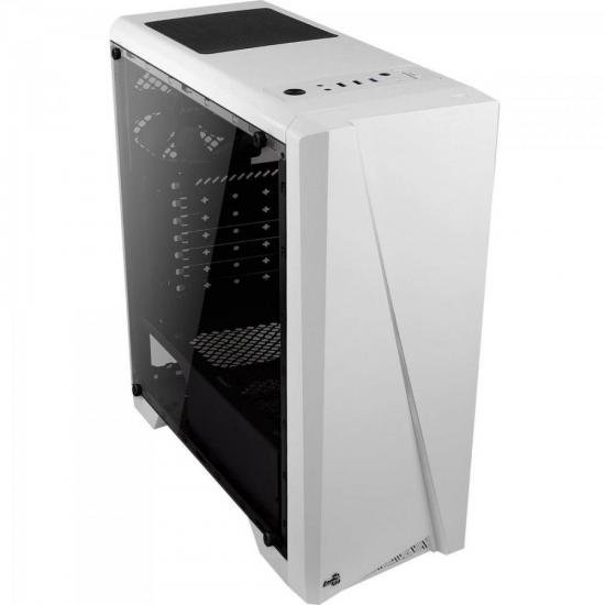 GABINETE GAMER AEROCOOL CYLON MID TOWER, RGB, BRANCO