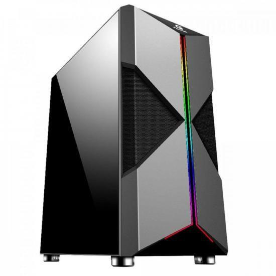 GABINETE GAMER ATX HOLT RGB FORTREK PRETO