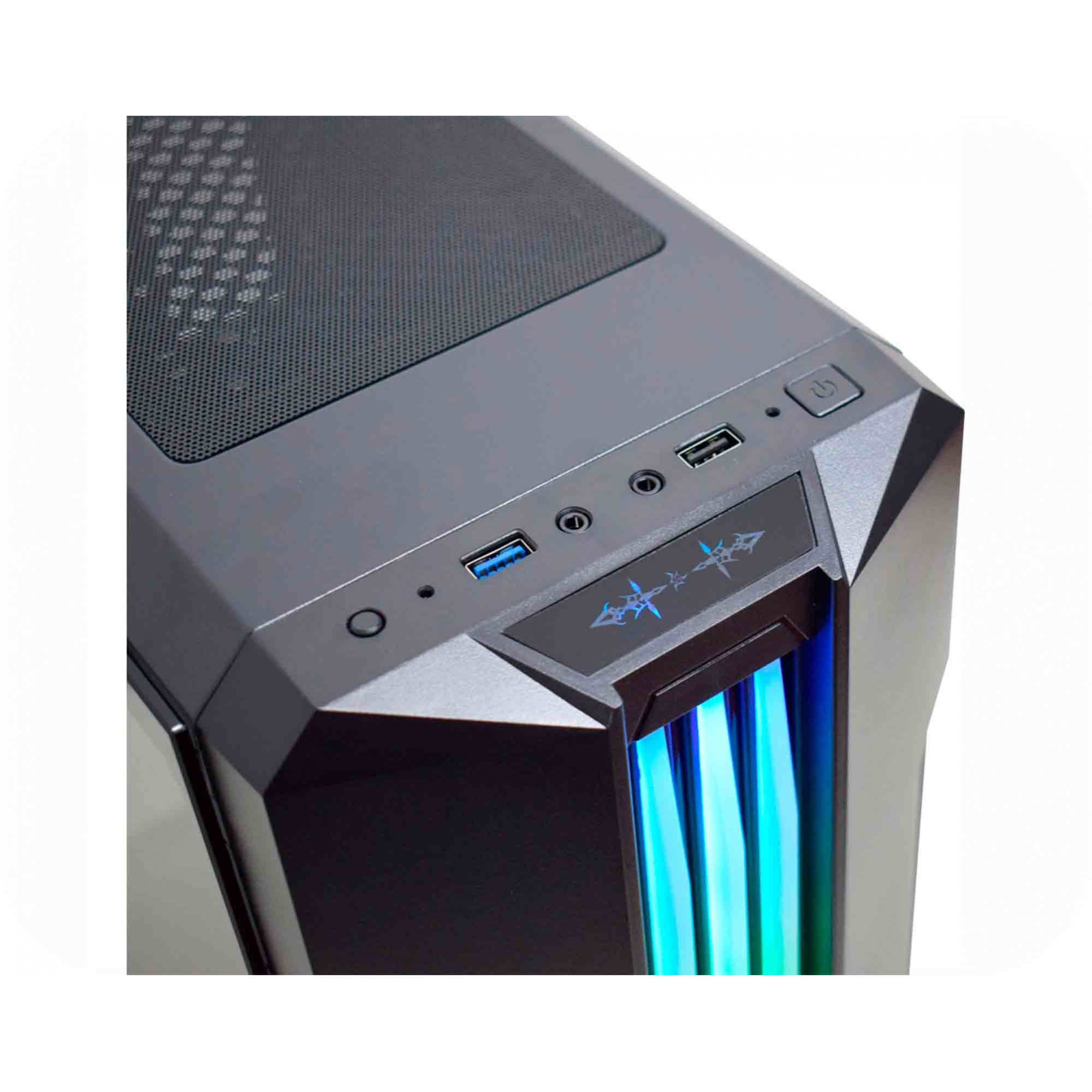 GABINETE GAMER BIFROST4 K-MEX CG02RU PAINEL LED RGB