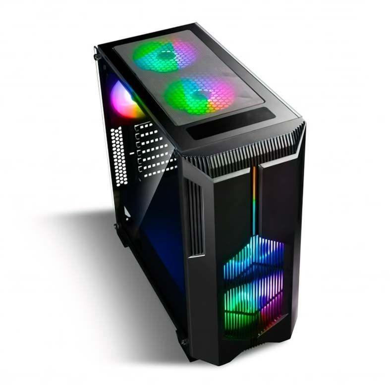 GABINETE GAMER BLUECASE BG-029, MID TOWER, COM 2 COLER FANS RGB, BG029GCASE