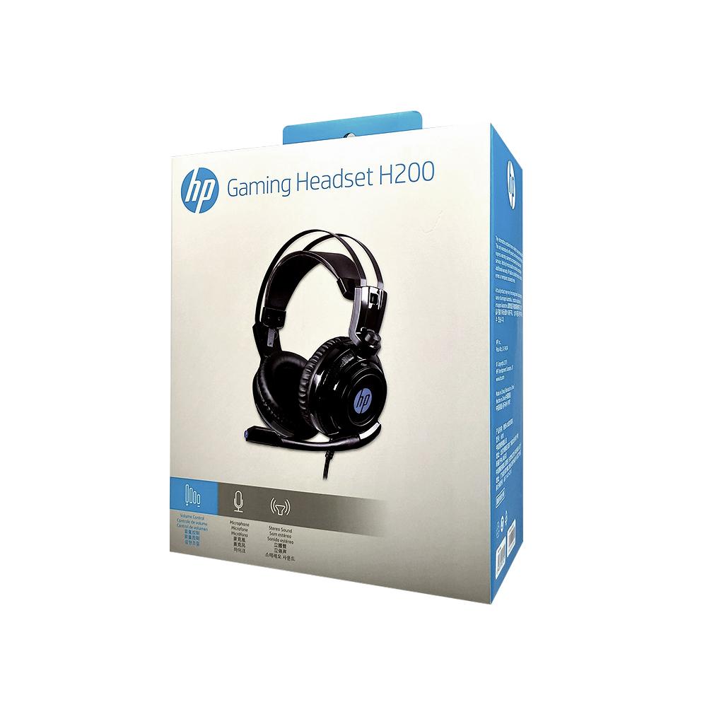 HEADSET GAMER HP H200 STEREO 1 P2+USB LED
