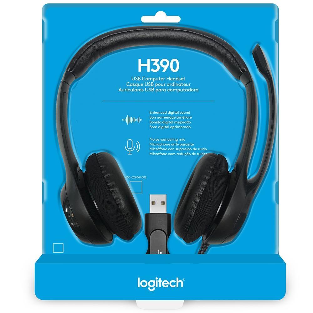 HEADSET LOGITECH H390 USB, PRETO, ESTEREO