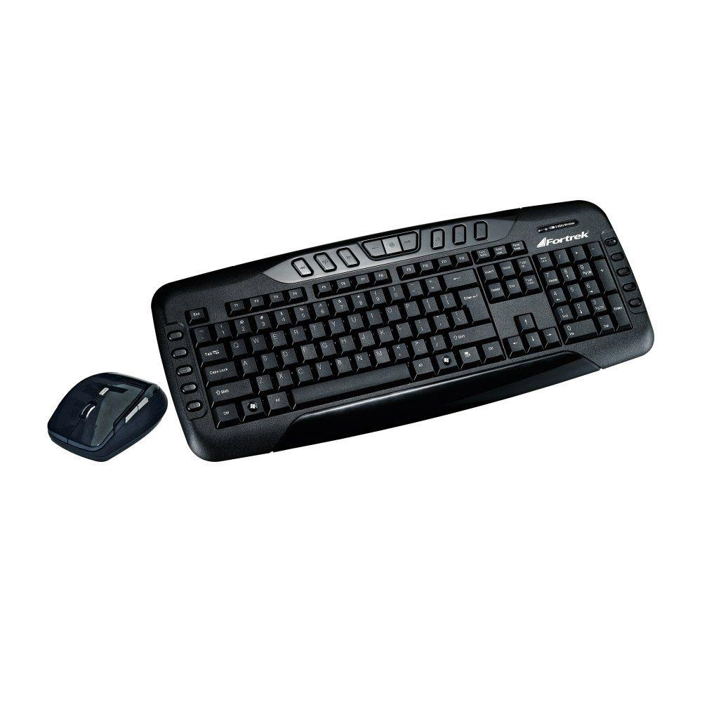 KIT TECLADO E MOUSE FORTREK WIRELESS USB PRETO, KC602