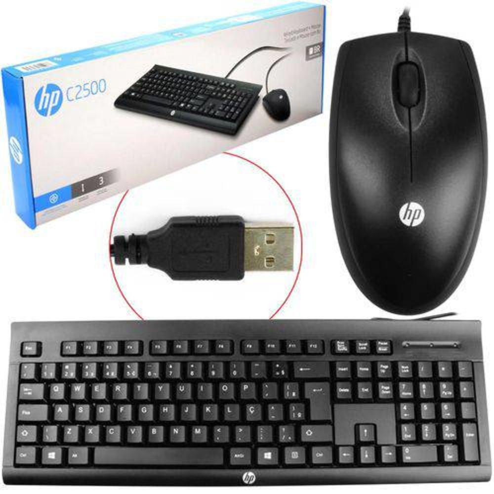 KIT TECLADO E MOUSE USB C2500 - HP