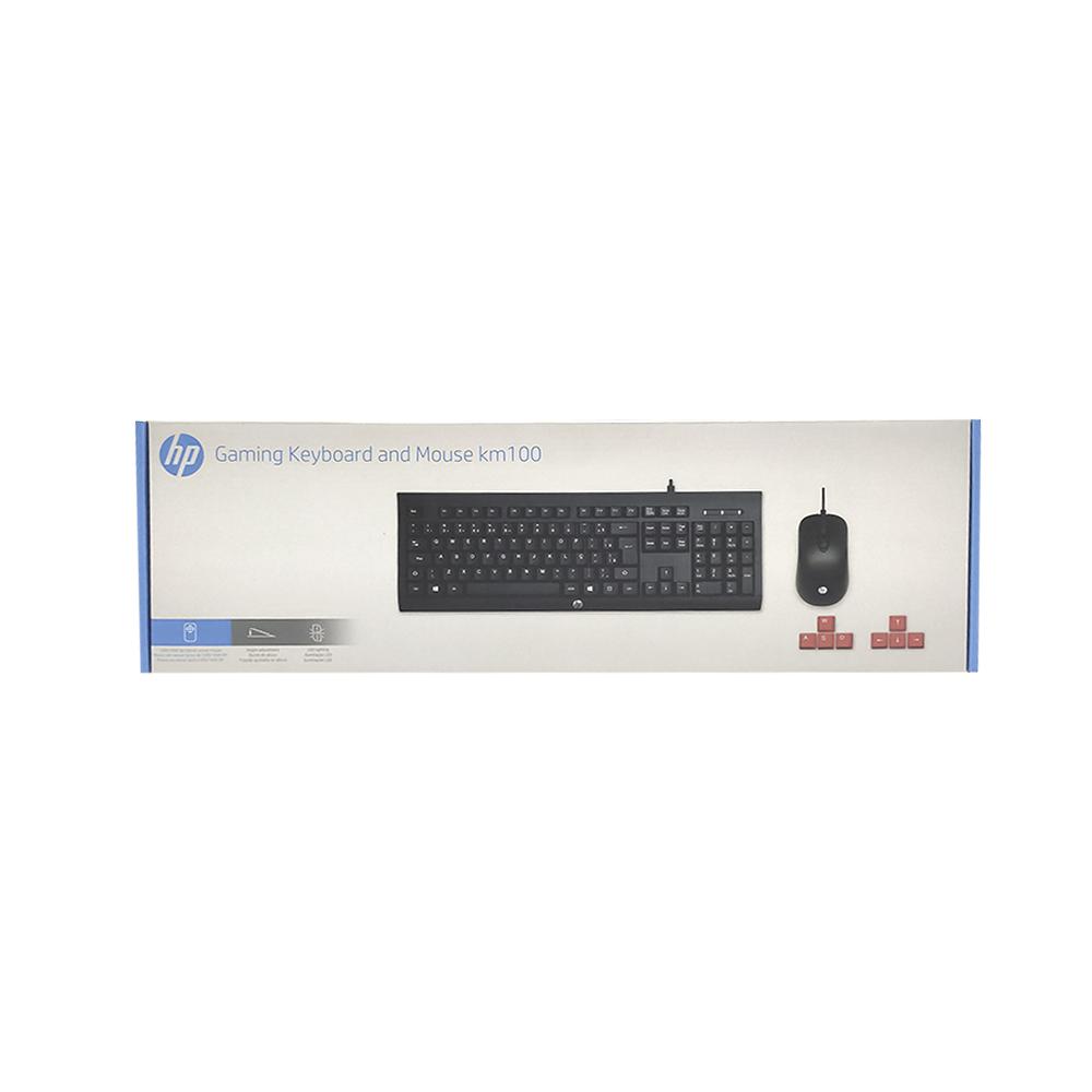 KIT TECLADO E MOUSE USB HP KM100