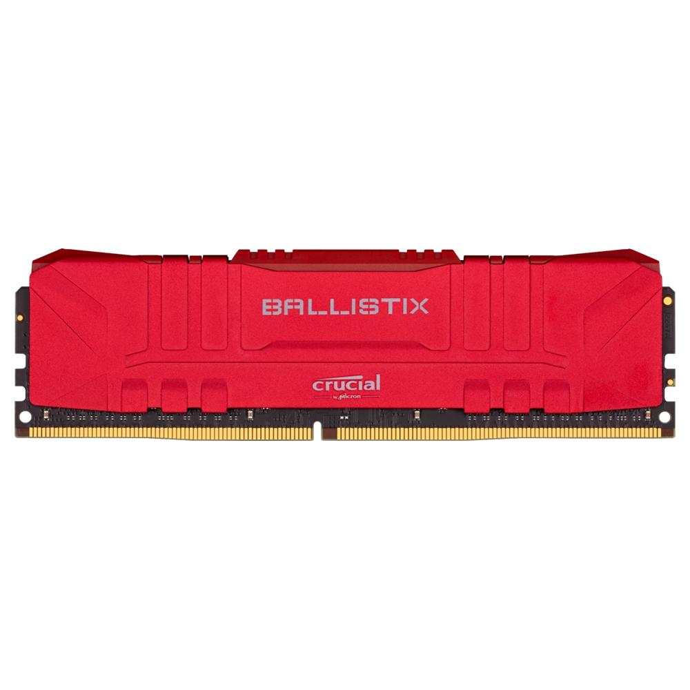MEMÓRIA CRUCIAL BALLISTIX DDR4, 16GB, 3000MHZ, CL15, UDIMM, VERMELHA - BL16G30C15U4R