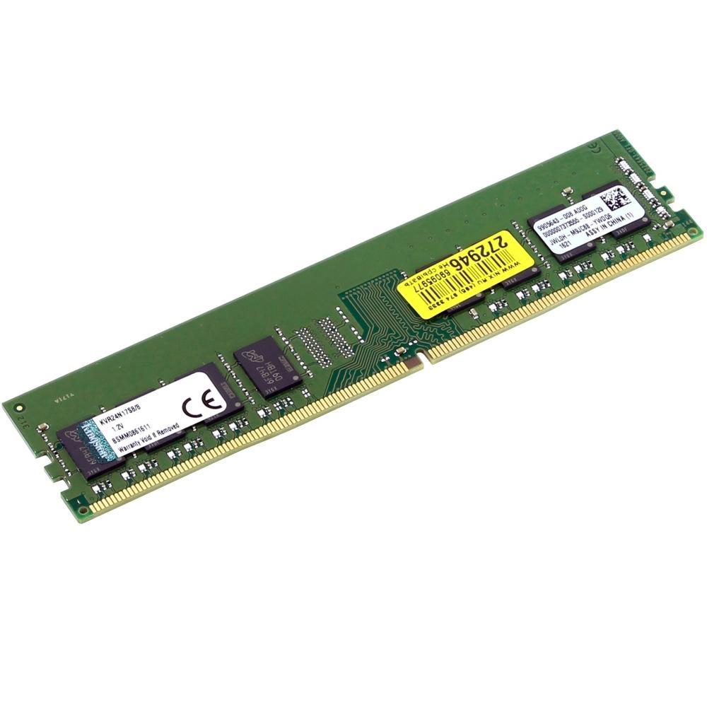 MEMORIA DESKTOP DDR4 KVR24N17S8/8 8GB 2400MHZ NON-ECC CL17 SIMM KINGSTON