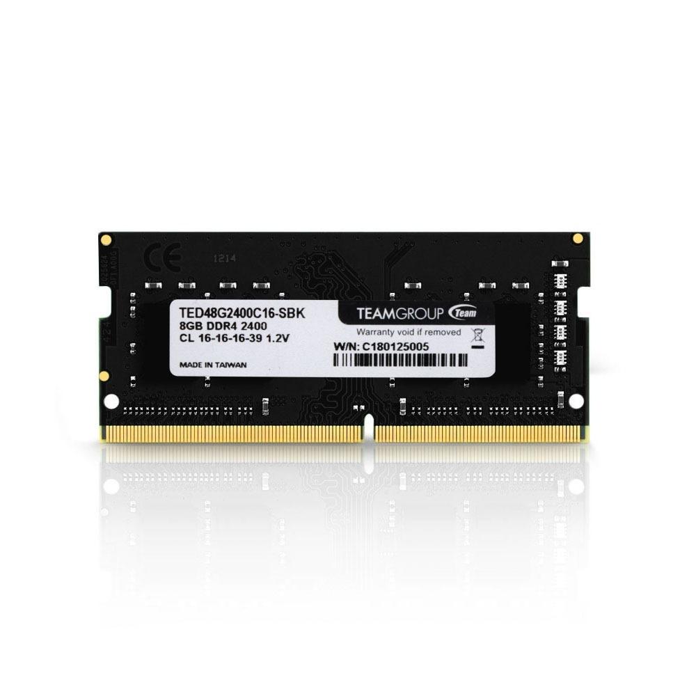 MEMÓRIA NOTEBOOK TEAM GROUP ELITE  DDR4 8GB 2400 MHZ  TED48G2400C16-S01