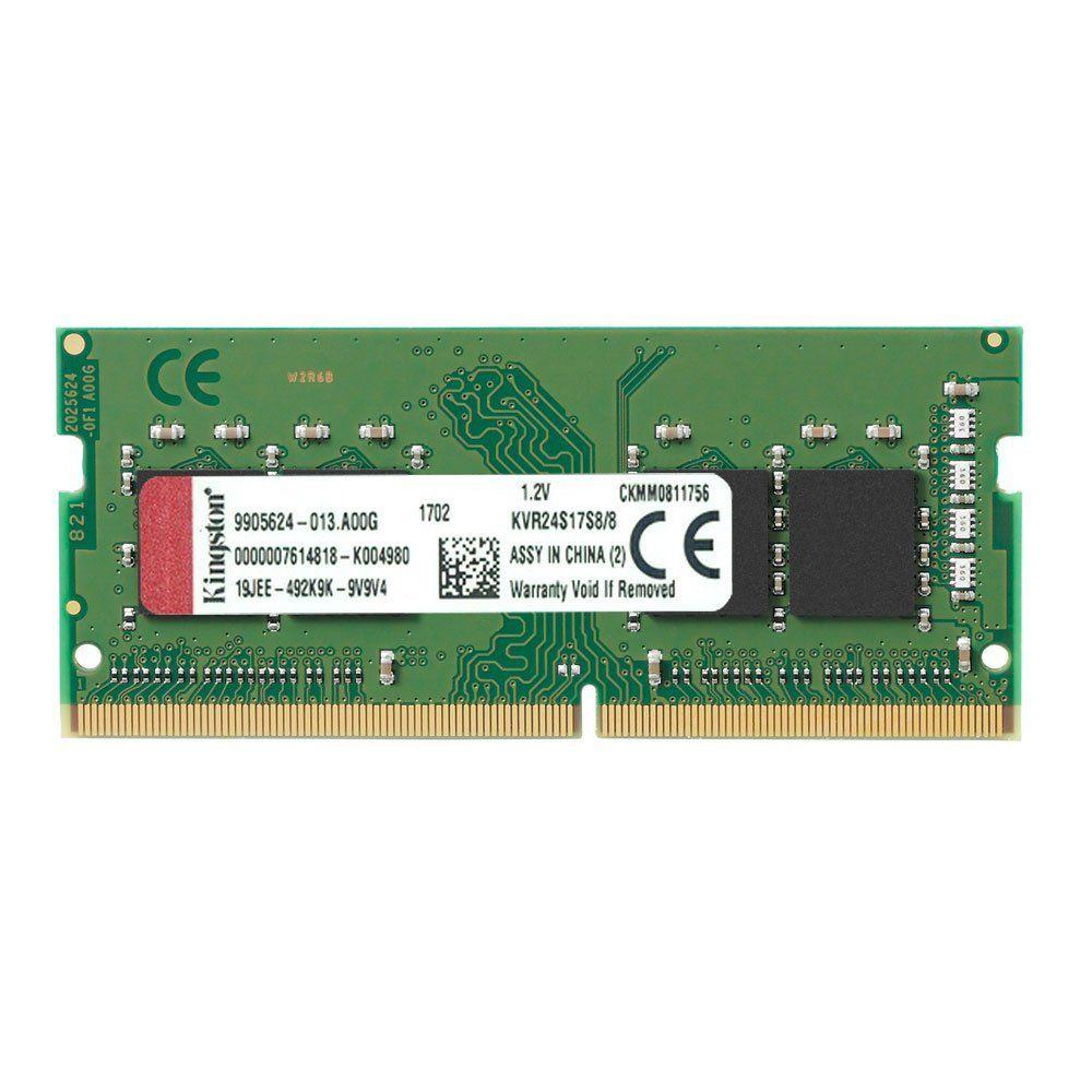 MEMÓRIA PARA NOTEBOOK KINGSTON 8GB DDR4 2400MHZ KVR24S17S8/8
