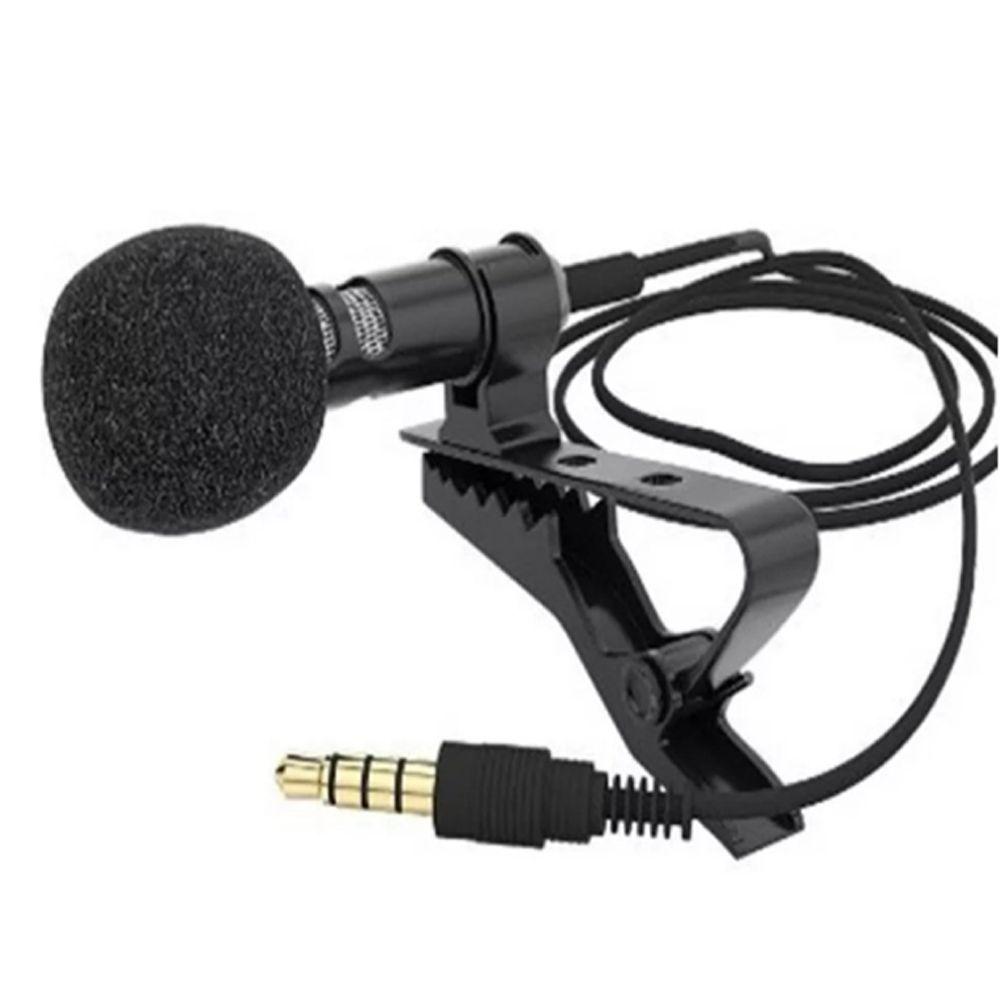MICROFONE LAPELA COM CLIP PARA CELULAR SMARTPHONE STEREO - JA22-01