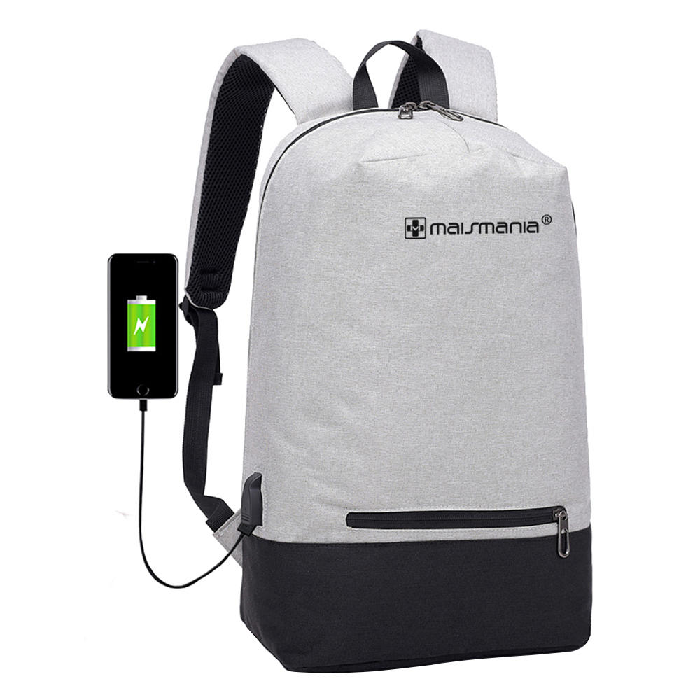 MOCHILA NOTEBOOK MAIS MANIA CINZA SOFT TECH  439