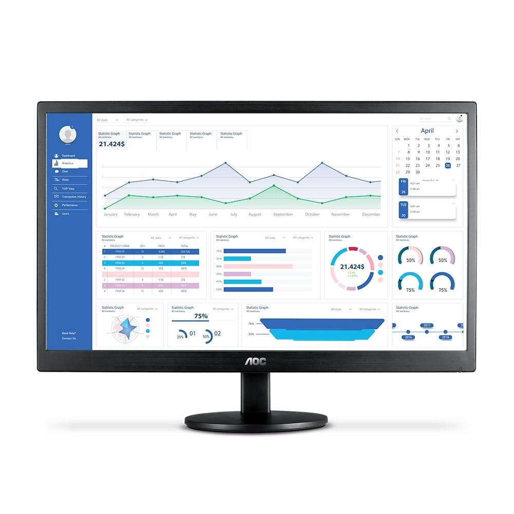 "MONITOR AOC 21,5"" LCD, LED, FHD - E2270SWHEN"