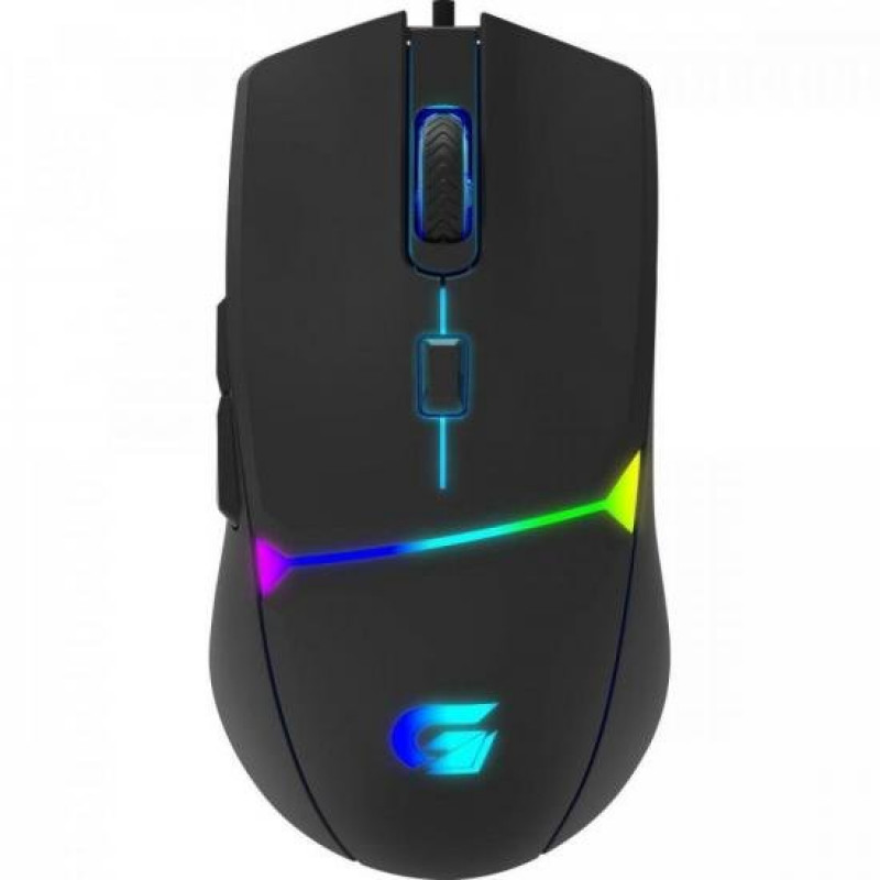 MOUSE GAMER 7200DPI LED RGB CRUSADER FORTREK PRETO