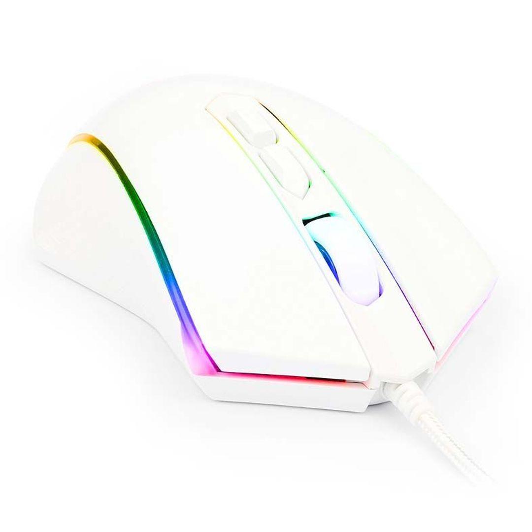 MOUSE GAMER REDRAGON MEMEANLION CHROMA BRANCO RGB, 10000 DPI - M710W-RGB