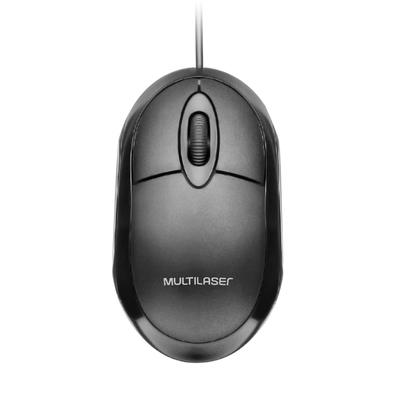 MOUSE ÒPTICO MULTILASER CLASSIC FULL BLACK 1200 DPI, USB - MO300