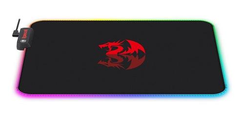 MOUSEPAD GAMER REDRAGON PLUTO, RGB, 330X260X3MM - P026